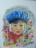 Carnival, Pastel on Paper, A4, 2011 - - Private Collection